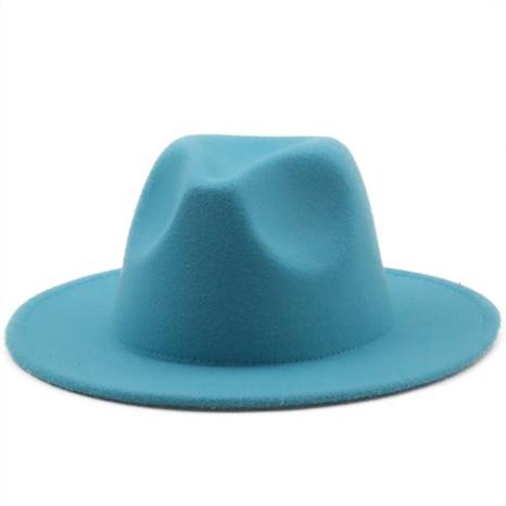 sombrero de lana de color sólido simple retro NHXV366920's discount tags