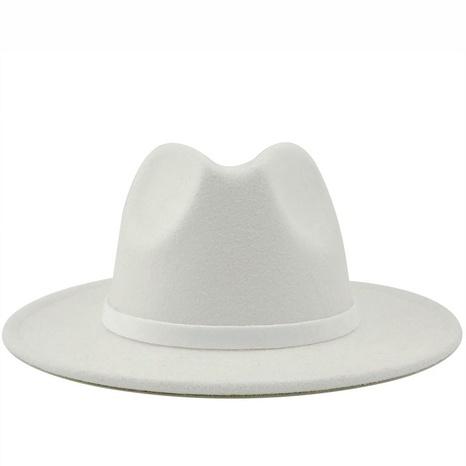 sombrero de copa de lana de color liso retro NHXV366923's discount tags