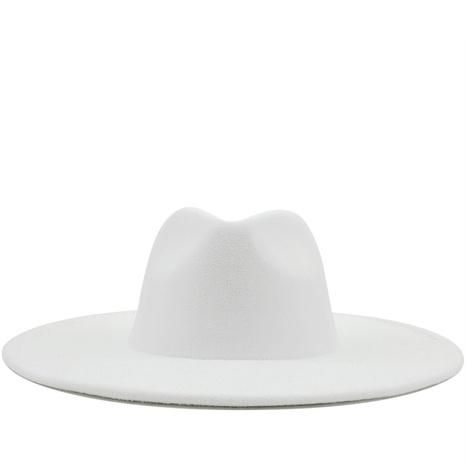 sombrero de copa de lana lateral grande de color sólido casual de moda NHXV366926's discount tags