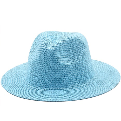 Korean style solid color woven big brim straw hat  NHXV366930's discount tags