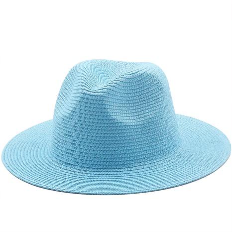 Sombrero de paja de ala grande tejido de color sólido de estilo coreano NHXV366930's discount tags