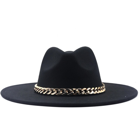 Sombrero de jazz de cadena de lana de moda NHXV366931's discount tags