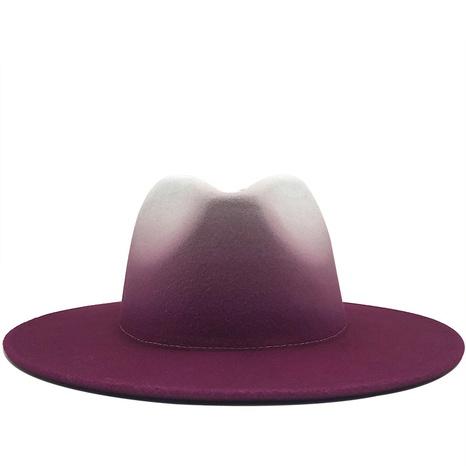 sombrero de fieltro de color degradado de lana de moda NHXV366934's discount tags