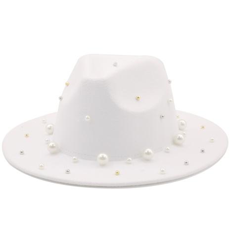 Sombrero de copa de ala grande jazz retro de lana NHXV366936's discount tags