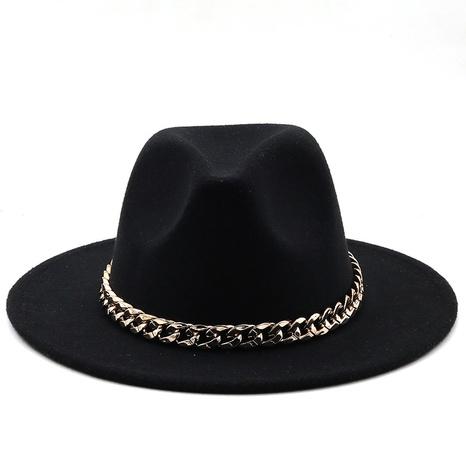 sombrero de fieltro de jazz de lana de ala grande de moda NHXV366938's discount tags