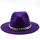fashion big brim woolen jazz top felt hat NHXV366938