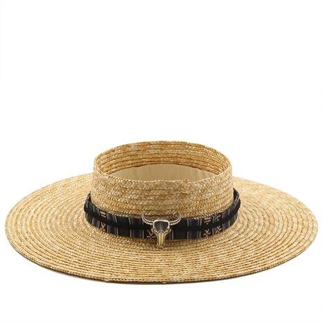 sombrero de paja de aleros grandes de moda NHXV366944's discount tags