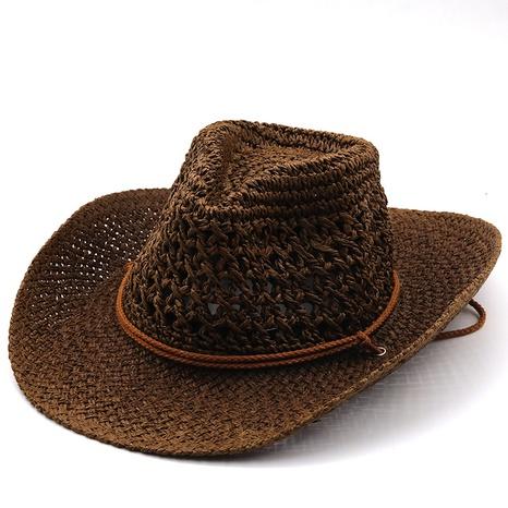 Sombrero vaquero hueco estilo étnico trenzado NHXV366945's discount tags