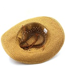 Ethnic style hollow cowboy braided hat  NHXV366945