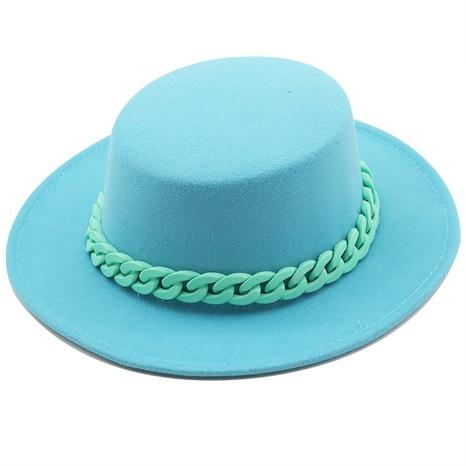 sombrero de copa plano retro color negro NHXV366948's discount tags