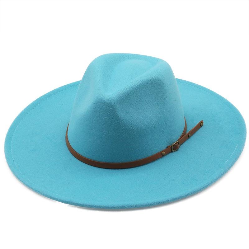 Fashion oversized woolen top hat  NHXV366949