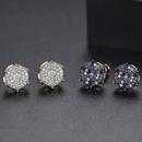 Wholesale Fashion Copper Inlaid Zircon Geometric Ring NHBOJ368913