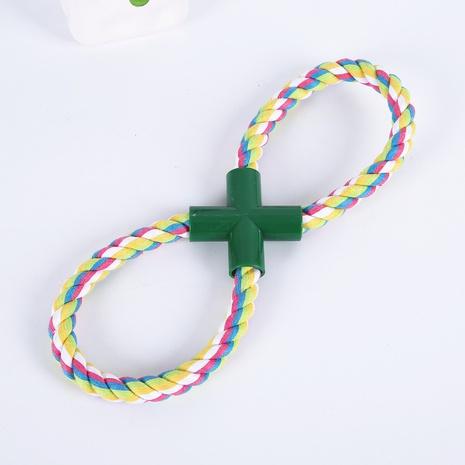 Forme el juguete de cuatro vías del animal doméstico del algodón del nudo de la cuerda ocho NHWY366849's discount tags