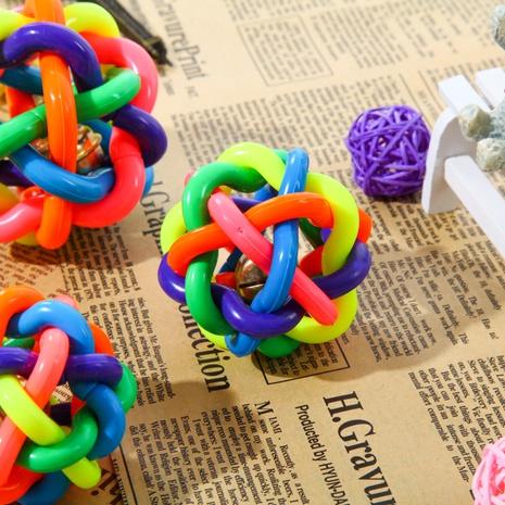 Bola que suena del color del juguete del animal doméstico de la moda NHWY366846's discount tags