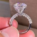 Six Prong Moissanite Heartshaped Diamond Ring  NHBOJ368931