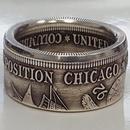 retro coin engraving alloy ring wholesale  NHBOJ368922