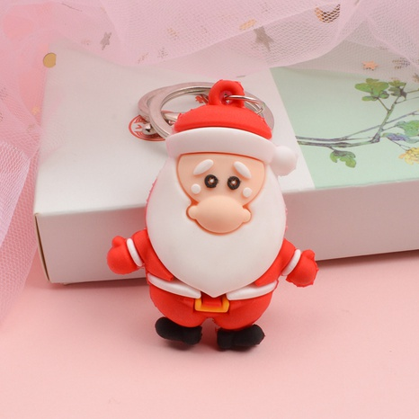 Dibujos animados epoxi protección del medio ambiente Santa llavero colgante regalos de Navidad al por mayor NHWQ366970's discount tags