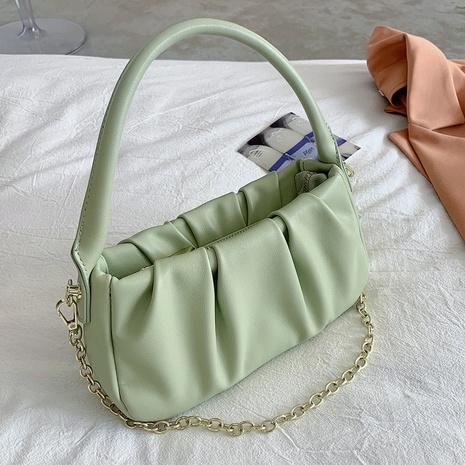 Bolso de nube de un solo hombro con pliegue de color sólido coreano NHLH366986's discount tags