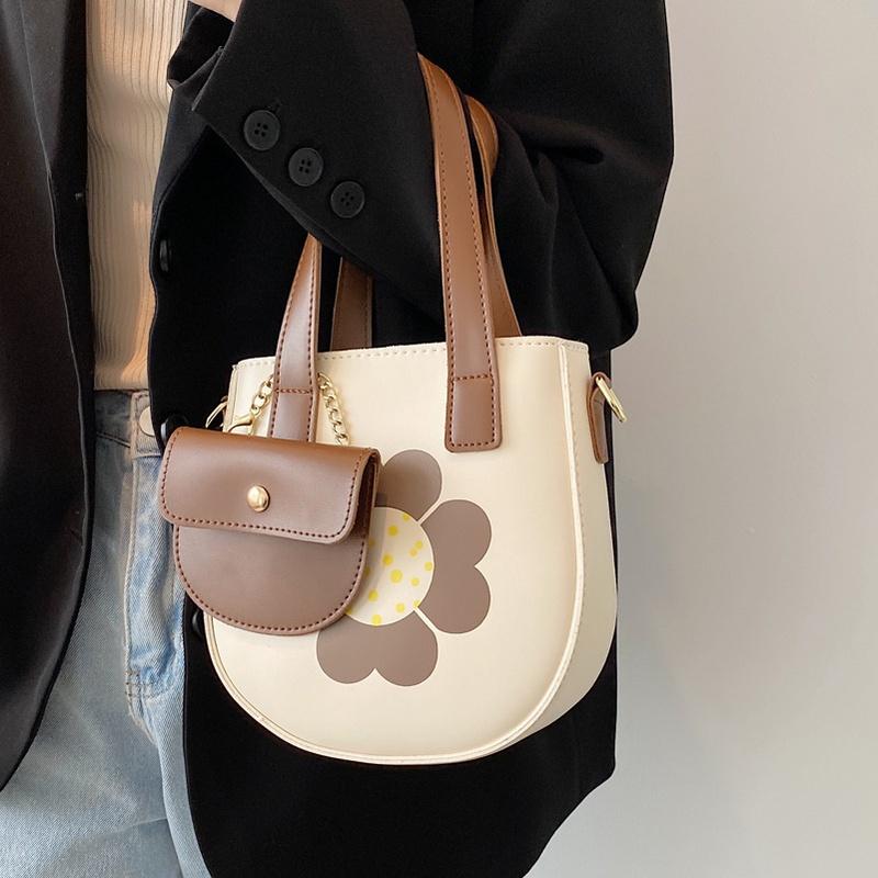 fashion flower messenger bucket bag NHLH367014
