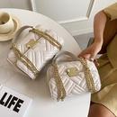 Retro lingge lock clamshell chain bag  NHLH367025