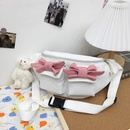 Cute bow contrast color chest bag  NHLH367027