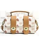 Fashion Printed Flip Lock Handbag Messenger Bag NHLH367036