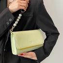 Korean solid colopearl chain messenger bag  NHLH367040