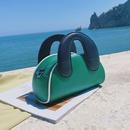 Korean contrast color square handbag NHLH367044
