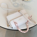fashion silk scarf chain solid color portable messenger small square bag NHLH367062