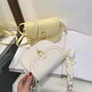 fashion silk scarf oneshoulder messenger saddle bag NHLH367076