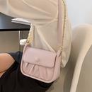 fashion twist fold chain oneshoulder small square bag NHLH367082