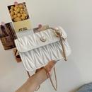 Fashion rhombus metal chain messenger square bag  NHXC367243