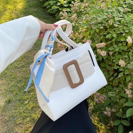 bolso de mensajero portátil de un solo hombro con bufanda de seda de moda NHJZ367247's discount tags