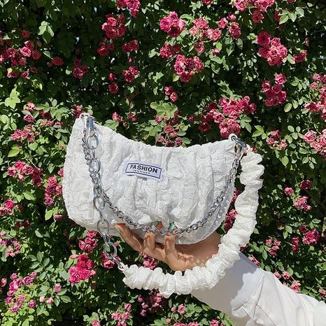 bolso cuadrado pequeño portátil del mensajero del hombro de la cadena de perlas de la moda NHJZ367245's discount tags
