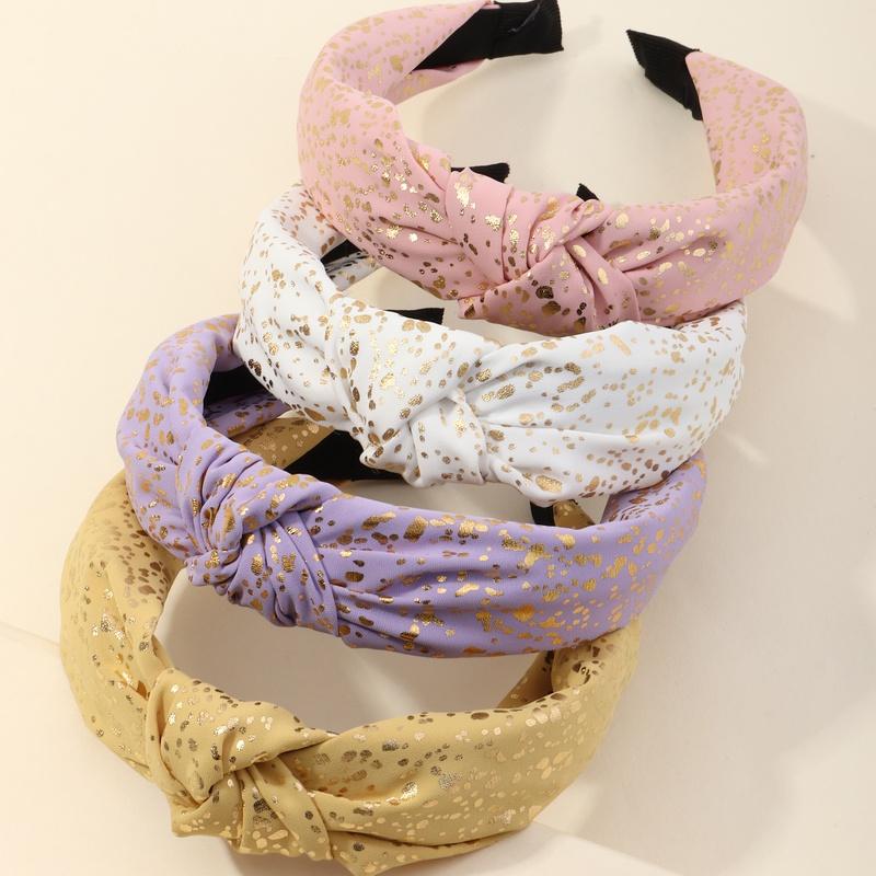 Korean fabric bronzing heart knotted headband NHAU368871