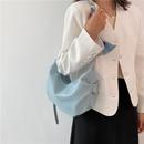 fashion solid color large capacity fold cloud shoulder tote bag NHJZ367271