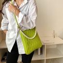 fashion casual fold single shoulder armpit small square bag NHJZ367273