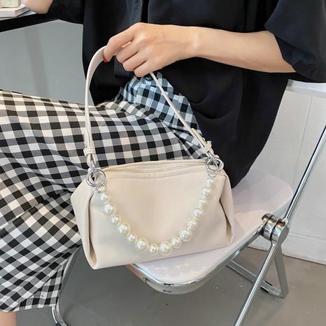 bolso de mensajero portátil de un solo hombro con cadena de perlas de moda simple NHJZ367286's discount tags
