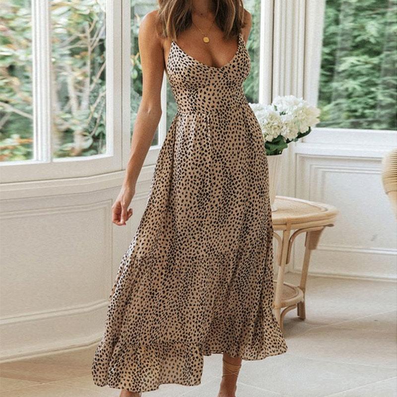 new sling halter laceup ruffle edge dress  NHIS368982