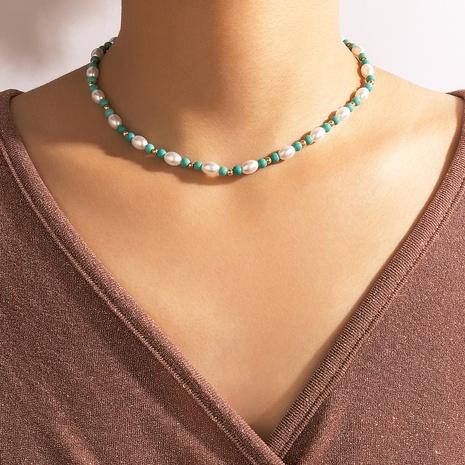 collier de perles de couleur contrastée simple en gros NHGY367324's discount tags
