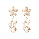 simple new pearl flower hollow carved earrings NHGY367322