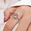 fashion geometric smiley face shape open ring NHSC367313