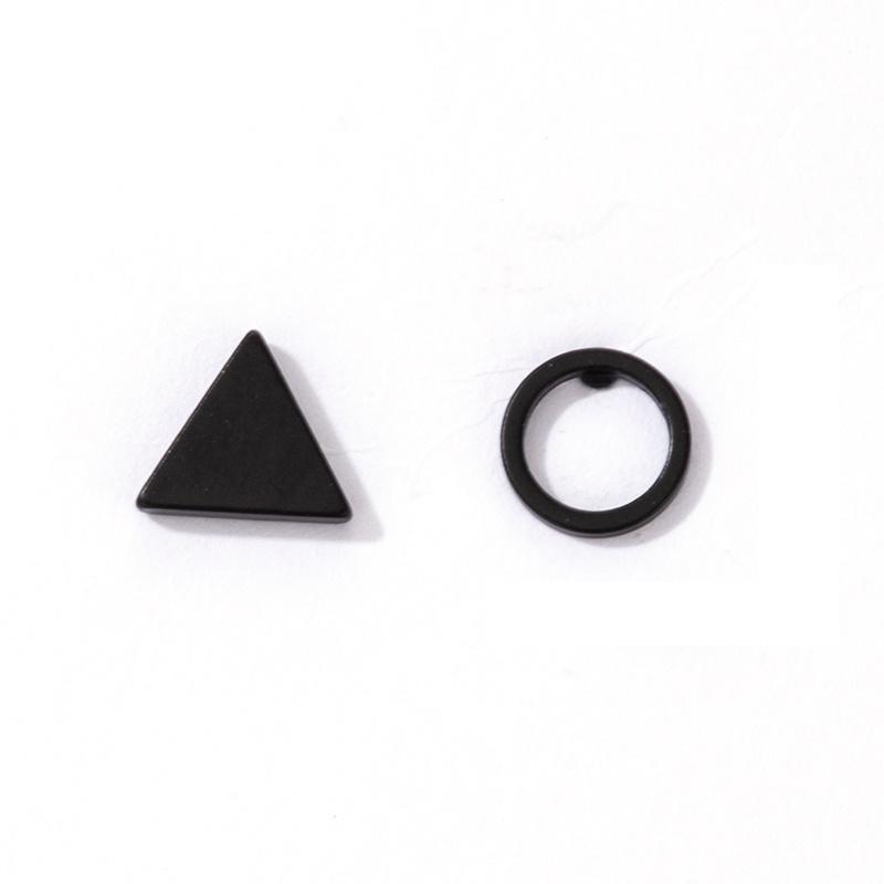 punk black geometric earrings wholesale  NHGY367309