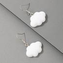 simple geometric white cloud earrings wholesale  NHGY367300