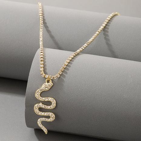 nouveau bracelet de cheville pendentif en forme de serpent en diamant simple NHGY367296's discount tags