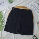 simple thin lowwaist fivepoint adjustable maternity shorts NHZN369003