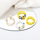 simple beads geometric alloy ring combination set wholesale  NHRN367379