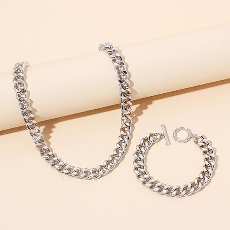 ensemble de combinaisons de bracelets à chaîne épaisse géométrique hip hop NHRN367382's discount tags