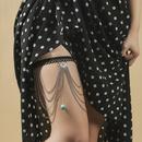 Bohemian style long chain multilayer stretch leg chain  NHLA367385