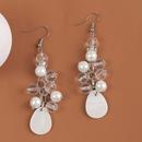 Retro long handmade beaded crystal shell pearl earrings NHLA367388